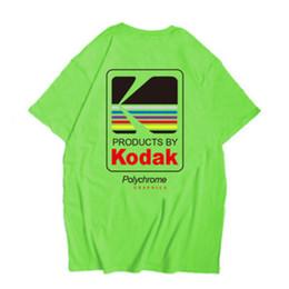 Логотип тройники онлайн-Kodak Logo Men T-Shirt Фотограф Урожай ретро O-образным вырезом Tshirts Хлопок Повседневный футболки мужские Harajuku Top XS-2XL