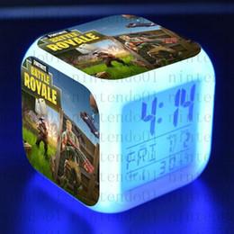 настольные часы Скидка 30 цветной светодиодный будильник Royale Многофункциональный цифровой настольный сенсорный свет настольные часы подарок детям игрушки