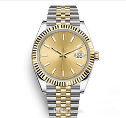 simple reloj deportivo Rebajas Reloj de lujo para hombre Reloj deportivo automático Relojes de pulsera de dos tonos Dial dorado Diseñador Reloj de pulsera Vestido de moda Relojes casuales Sencillos