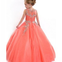 6988a6d826e graduation party clothes Promo Codes - Bling Bling Jewel Ball Gown Lace  Applique Sequins Beaded Princess