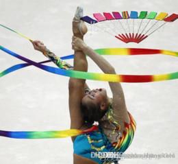 2019 jogo guarda-chuva Atacado-Dança Fita Ginástica Ginástica Rítmica Arte Ballet Streamer Twirling Rod Esporte Ao Ar Livre Jogos Crianças Criança Adulto colorido Sports Toy