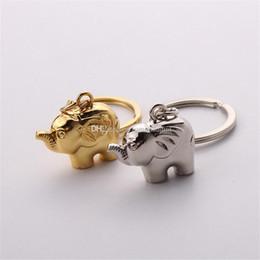 Grandes amantes de los elefantes llavero de oro y plata pareja de metal llavero boda favorece el regalo del partido de la fiesta de bienvenida al bebé llavero DHL envío gratis desde fabricantes