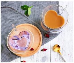Aqueça parede dupla resistente vidro do café Copos de chá / e canecas de viagem dobro canecas com o punho canecas Beber Vidros de tiro de