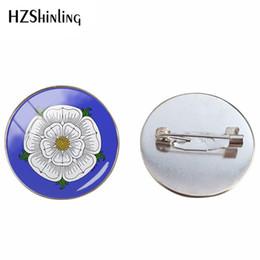 Folk rose on-line-O antigo místico Rosae Lancashire Rose Design e Yorkshire Rose Folk Pattern Art broche de jóias pinos mão artesanato presentes