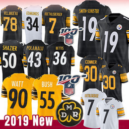 Watt shorts on-line-Pittsburgh Jersey Steelers 19 Juju Smith-Schuster 90 T.J. Watt Bettis, 55 Devin, Bush, Conner, Polamalu, 5, Ryan Shazier, Roethlisberger, Villanueva