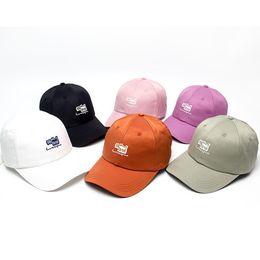 golf coreano Sconti Lettera Patch sveglio coreano del cappello delle donne degli uomini Berretto da baseball di Hip Hop Harajuku Snapback Trucker Cap Golf Outdoor casual regolabile Visiera Estate