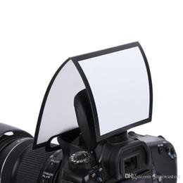 Argentina 50 unids / lote Universal de pantalla dura Ventana emergente Difusor de flash Softbox Reflector transparente negro para Yongnuo canon niokn toda la cámara Suministro