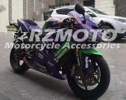3 Подарки Горячий новый ABS обтекатель мотоцикла комплект Для Kawasaki Ninja 636 ZX6R 2005 2006 мотоцикл обтекатель тела бесплатно на заказ Фиолетовый Зеленый от