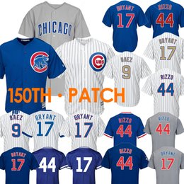 dc817c54b82 mlb jerseys 2019 - cheap 44 Anthony Rizzo Chicago jerseys Cubs 22 Jason  Heyward 17 Kris