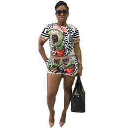 Floral Printed Short Sleeve Tops T-shirt + Shorts Summer Style Two Piece  Set Women Set Casual Shorts 2 Piece 0212b3f1d