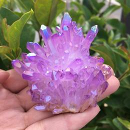 pipas de fumar antiguas Rebajas Rara y hermosa muestra de racimo de cristal de cuarzo aura de llama púrpura