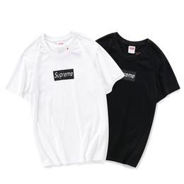 Deutschland CF 5502 schwarz und weiß SUPRE T-Shirt bb Kurzarm O-Ausschnitt TEE Kanye West Brief drucken Sportwear Großhandel Männer Frauen supplier woman white t shirt wholesale Versorgung