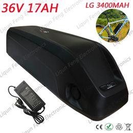 Lg аккумулятор онлайн-ЕС США Нет налога Hailong вниз трубки Ebike Battery 36V 17Ah Использование литий-ионного аккумулятора для аккумуляторной батареи LG 36V 17AH Электрический велосипедный аккумулятор.