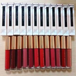 2019 bastões de fundação Maquiagem Lip Gloss impermeáveis Non-Stick Cup 12 cores de batom bonitas Cosméticos Sexy Moda Batom Set Fundação