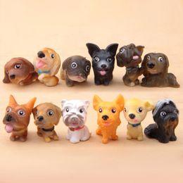 Cani paesaggistici online-12 Pz Cute Dog Animal Miniature Fairy Garden Casa Case Decorazione Mini Craft Micro Landscaping Decor Accessori Fai da te
