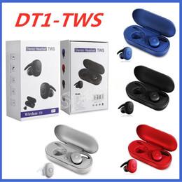 2019 удобные bluetooth-наушники Новые DT-1 TWS Спорт беспроводные наушники Bluetooth V5. 0 красочные работает наушники Pk i12 i11 i9s