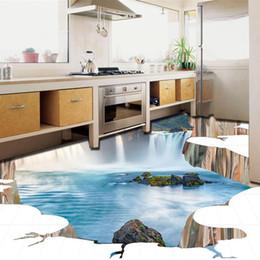 2020 pared de la pared de papel tapiz mural [Autoadhesivo] 3D Waterfall Lake Water 121 Piso Wallpaper Mural Wall Print Decal Murales de pared pared de la pared de papel tapiz mural baratos