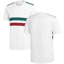 101ce64c649 Men Mexico League National Team Soccer 2018 Away Replica Blank Football Jersey  White Green Shirts Size S-XL