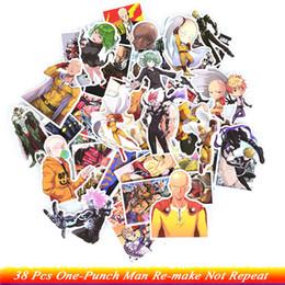 fare chitarre Sconti 38 Pz One-Punch Man Anime Adesivi ONE Ricreazione Con Il Giovane salto Divertente Anime Kids Toy Sticker per DIY Skateboard Chitarra Frigo