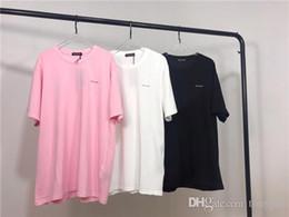 Canada 19ss nouvelle arrivée paris t-shirts coton broderie lettre à manches courtes t-shirt d'été respirant gilet chemise streetwear en plein air t-shirt Offre