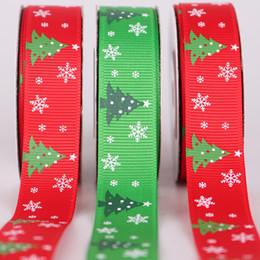 Белоснежный блеск онлайн-2019 10мм 20мм Зеленый Красный Белый Рождественская елка Снег Дед Мороз Печатный Grosgrain Ленты Блеск Металлический Письмо Печатная Лента Рубан
