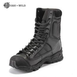 tênis tênis homens Desconto Militar Do Exército Botas de Combate Deserto de Couro Preto Dos Homens Sapatos de Trabalho de Inverno Mens Tornozelo Tático Bota Homem Plus Size MX190819
