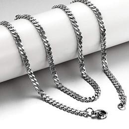 Collana d'argento della catena a maglia smussata degli uomini dell'acciaio di titanio dei nuovi gioielli di PeoplE 3.5mm, da