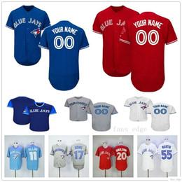 7418807f2 Custom Toronto #14 Justin Smoak 8 Kendrys Morales 6 Marcus Stroman 15  Randal Grichuk Blue Jays Man Woman Kids Youth Baseball Jerseys