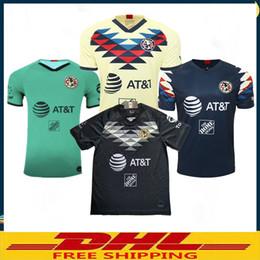 Dhl fußball trikots online-Dhl-freies Verschiffen 19 20 Verein-Amerika-Fußball Jerseys steuern weg 2019 2020 LIGA MX Verein-Amerika-Fußball Jerseys automatisch an Größe kann Mischreihe sein