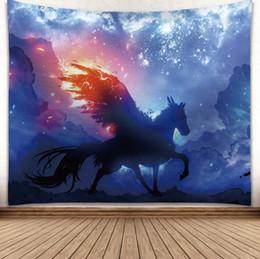 Dream horse 3d kreative muster tapisserie ployester wandbehang tapisserie für wanddekoration stoff hause hintergrund tuch yoga matten h414 von Fabrikanten