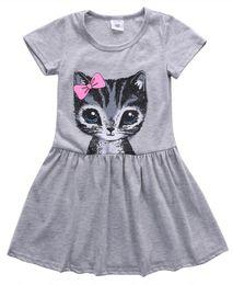 Gato tutu rosa online-Boda del niño infantil para niños de los bebés el gato encantador del partido del vestido rosado de la princesa verano de dibujos animados Tutu