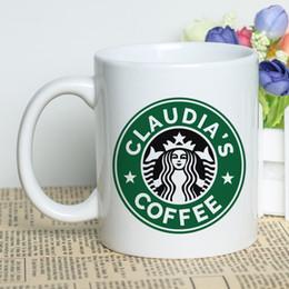 Personalizar tazas de café online-Taza conocida personalizada 11 oz 330 ml de cerámica blanca de café clásica Copa personalizada Diseño fresco de la taza del té de impresión creativa personalizada