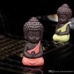 Canada Petite Statue De Bouddha Moine Figurine Inde Mandala Thé Artisanat En Céramique Décoratifs Pour La Maison Ornements Miniatures Offre