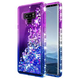 Glitter di gradiente di caso di iphone online-Custodia liquida con sfumatura sfumata con diamante per Iphone X XR XS MAX 6 7 8 Plus Samsung S10 S10 + Moto Pixel Huawei