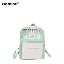 eea8abff23c0 EXCELSIOR 2018 New Fashion Candy color Canvas Women Backpack High School  Student Personalized School Girl Style Bag G2181