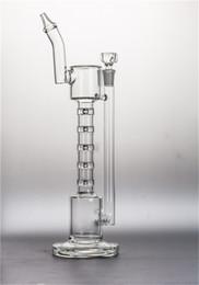 Conduite d'eau sans tige en Ligne-upline Bong Bent Bouthpiece bongs en verre avec Stemless perc pipe à tabac plates-formes pétrolières du tabac dabs huile dabber pipe à eau