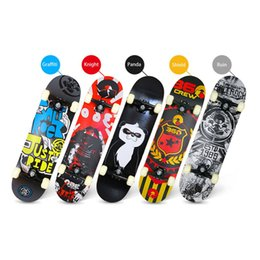 cbd77b13b84 Four-wheeled Skateboard Maple Wood Material Freestyle Skateboard Skate Deck Long  Board Cool Adult Teenager Skateboards New