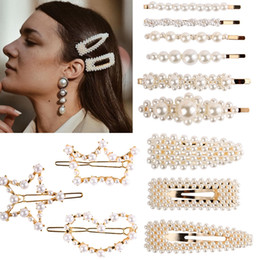 elegant hair clips barrettes Coupons - Fashion Women Peal Hair Pins Elegant Lady Hair Clips Girls Sweety Barrettes Sets Classic Party Hair Jewelry Gifts TTA1073