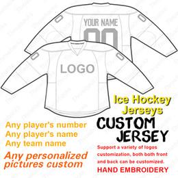 Трикотажные изделия онлайн-2019 пользовательские хоккей Джерси хоккейные майки сшитые размер S-4XL красный anyname anynumber белый серый темно-синий черный