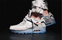 NbspNikeOffWhiteAirMax 90 Air Cushion Laufschuhe Günstige Männer Frauen Schwarz Weiß Beige Sneakers Klassische Kissen Trainer Sportschuhe von Fabrikanten