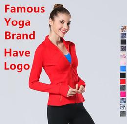 2019 imagens naturais do peito 2019 50 cores l Primavera Mulheres Outwear Brasão u Designer Jacket Lady Sports Yoga Vestuário Lycra Fiber mesmo estilo Jogging l Jacket u