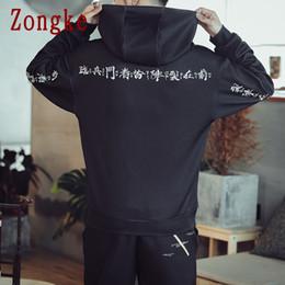 felpa cinese Sconti Zongke Chinese Letter Hoodie Uomo Streetwear Felpe con cappuccio da uomo Hip Hop Felpa con cappuccio Felpa da uomo Felpe con cappuccio 5XL 2019 Autunno Nuovo