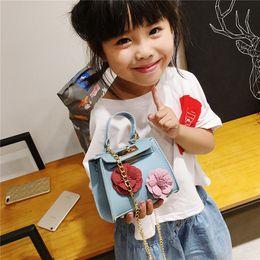 Porte-monnaie en Ligne-Nouveaux enfants sacs à main en cuir PU fleurs sac à main 2019 fille sac à main Mini fille sac à bandoulière enfants accessoires de mode cadeaux cadeaux BD009