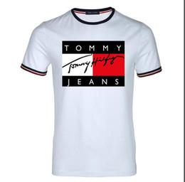 Ti t shirt онлайн-2019Summer дизайнер роскошные футболки для мужчин топы бренд акула рот шаблон Мужская одежда с коротким рукавом футболки мужские топы Уличная мода Ti