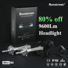 2019 замена ламп накаливания Runstreet (TM) Super Bright Автомобильные светодиодные фары противотуманные фары H4 9005 HB3 9006 HB4 Авто Лампа накаливания Заменить Традиционные лампы дешево замена ламп накаливания