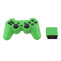 PS2 jogo wireless controller 2.4G duplo choque [direto da fábrica] com receptor cor 2.4G seleção múltipla de