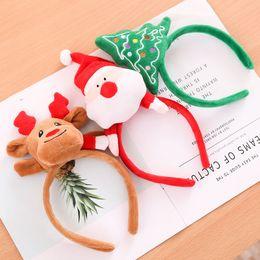 Grand père noël en Ligne-3 Styles De Noël De Cheveux Pour Enfants De Noël Santa Claus Antlers Arbre De Noël Bandeaux Halloween Party Toys L328