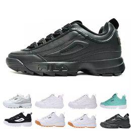 0faf2915c0a s archivos Rebajas Original FILA Disruptors II 2 calzado para correr TODO  blanco Negro Arena gris