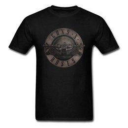 punk metal camiseta Rebajas Camiseta Punk Guns N Roses Camiseta Hombre Camiseta negra Tops de metal pesado 100% Ropa de algodón Pistola 3d Estampado de rosas Ropa Hip Hop