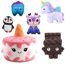 torta di pane all'ingrosso Sconti New Unicorn Wholesale Squishies Lento Rising Jumbo Kid Toys Animali Squishy Slow Rising Cinghie per telefono Dolce Profumato Cake Cake 8 pz